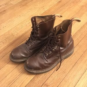 Brown Leather Dr. Marten Boots